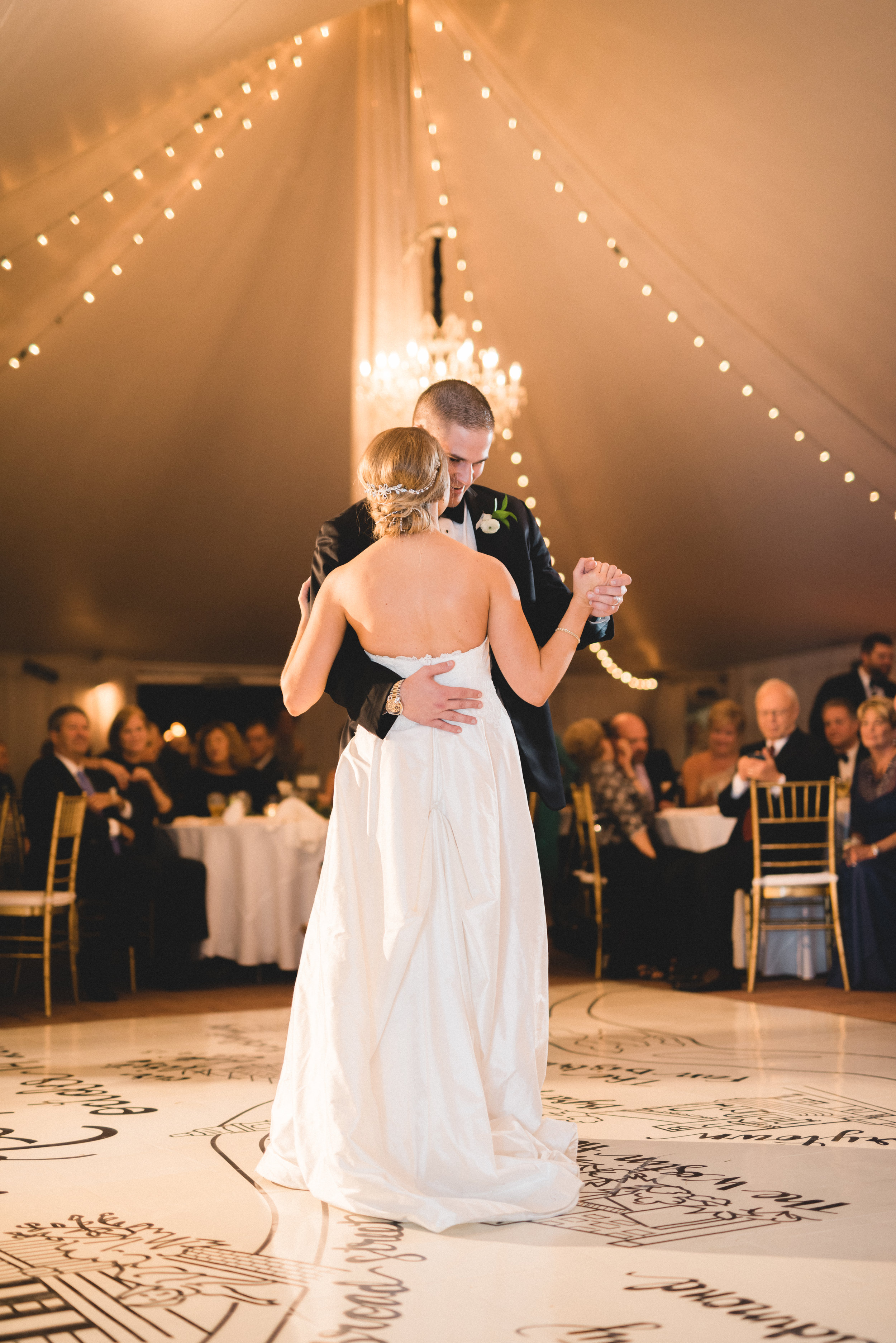 Brielle's silk wedding gown glided across this amazing floor like that of a princess dancing at the finest ball.