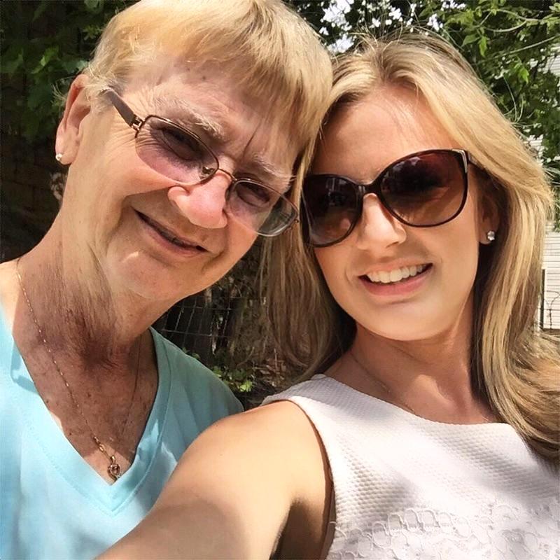 A beautiful Mother's Day selfie taken in 2015