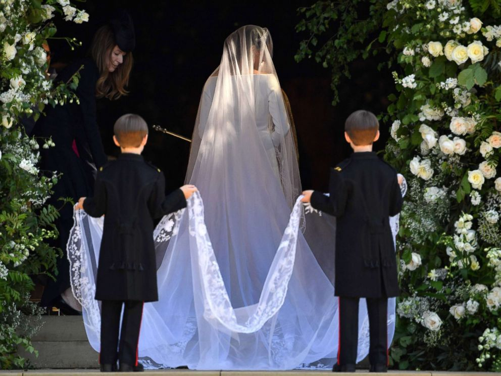 """Meghan Markle's stunner of a wedding veil prompted a cathedral veil craze, while we had been custom designing extended length veils for years before the most recent Royal Wedding. We designed actress Tara Reid's veil at 157"""" long when she was to marry MTV's Carson Daly. Our blogged bride,  Rachel McKnight , wore our cascading veil at 147"""" long. Today we have several veils ready for production at over 160"""" in length."""