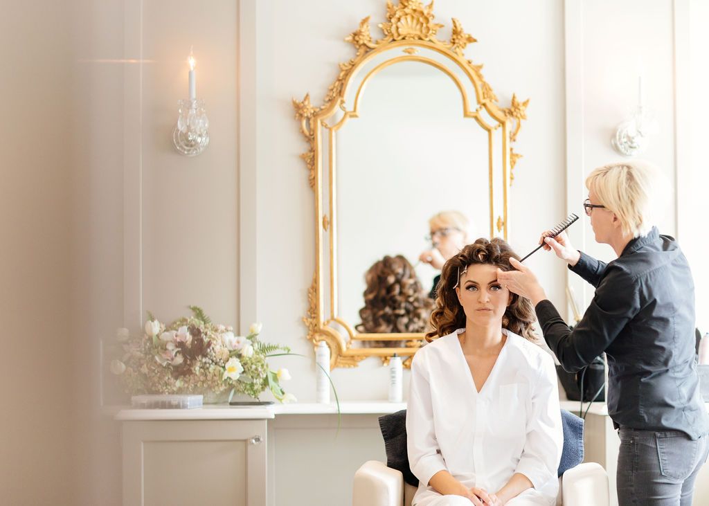 Lia Zangari, the owner of  Bliss Hair Salon , found her way to the top of the preferred vendor list at the Chateau, which houses its own hair salon for the brides to get ready.