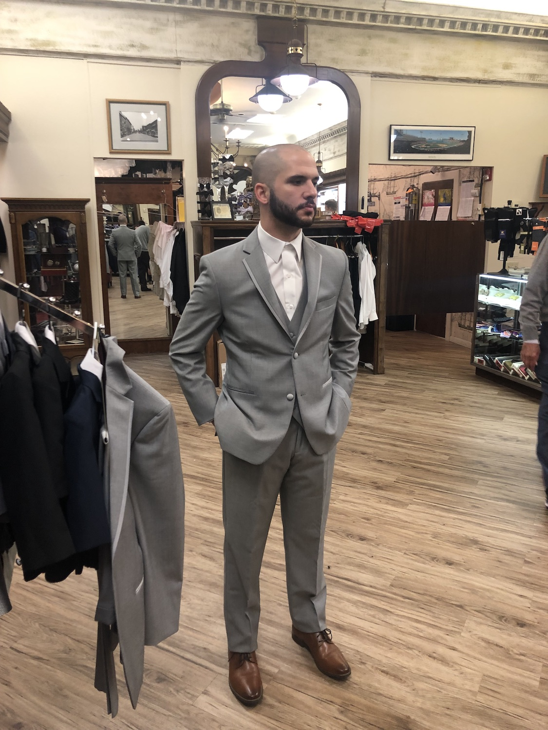 Joe agreed to come to Martha's Vineyard and committed to a short stint as our male model on our final day of shooting. I relied upon the expertise of Anthony Avedisian, owner of  Biltmore Tuxedos  in Ridgewood, NJ, to help with Joe's wedding attire.