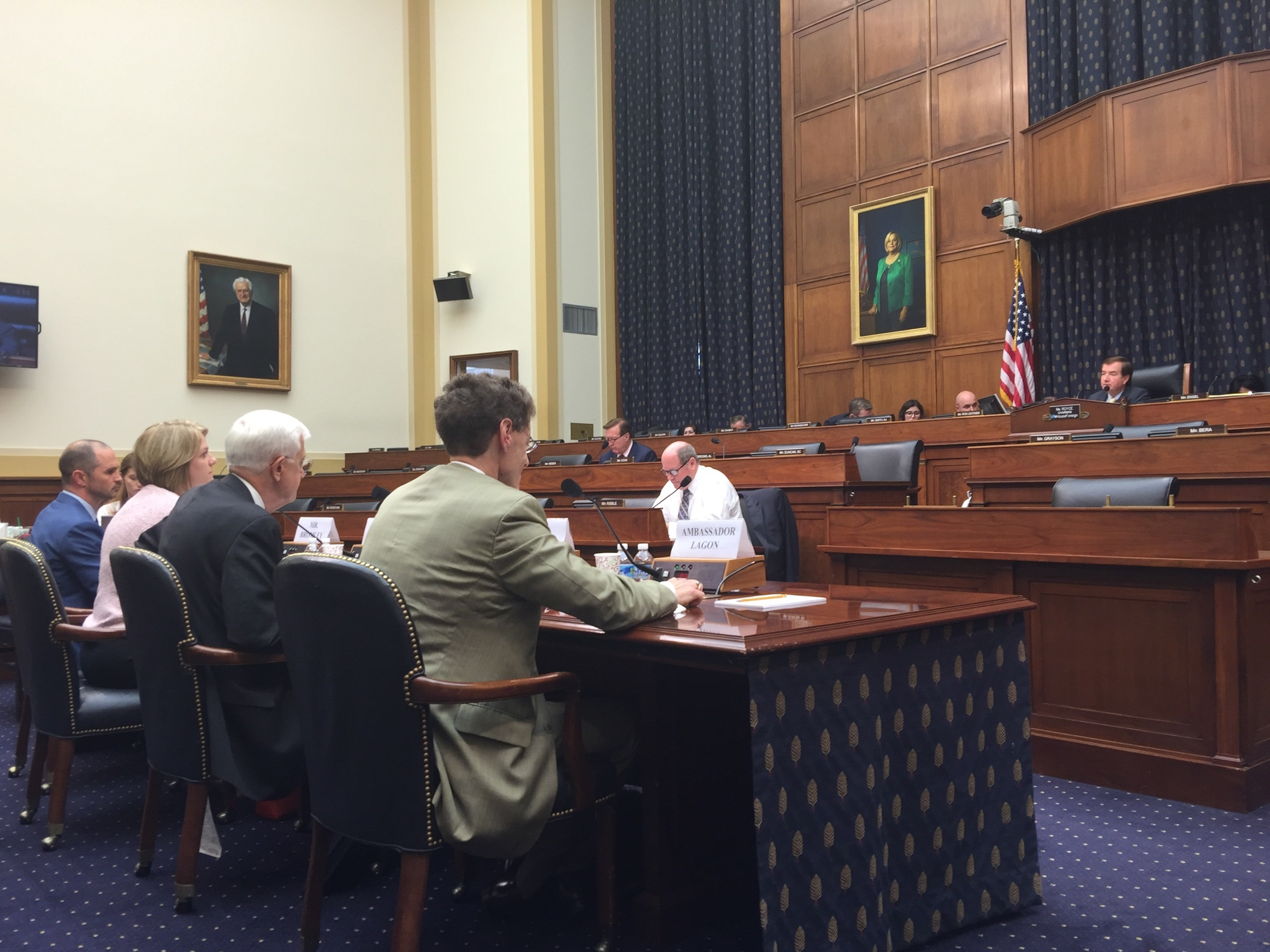 Witnesses present statements before the House Foreign Affairs Committee