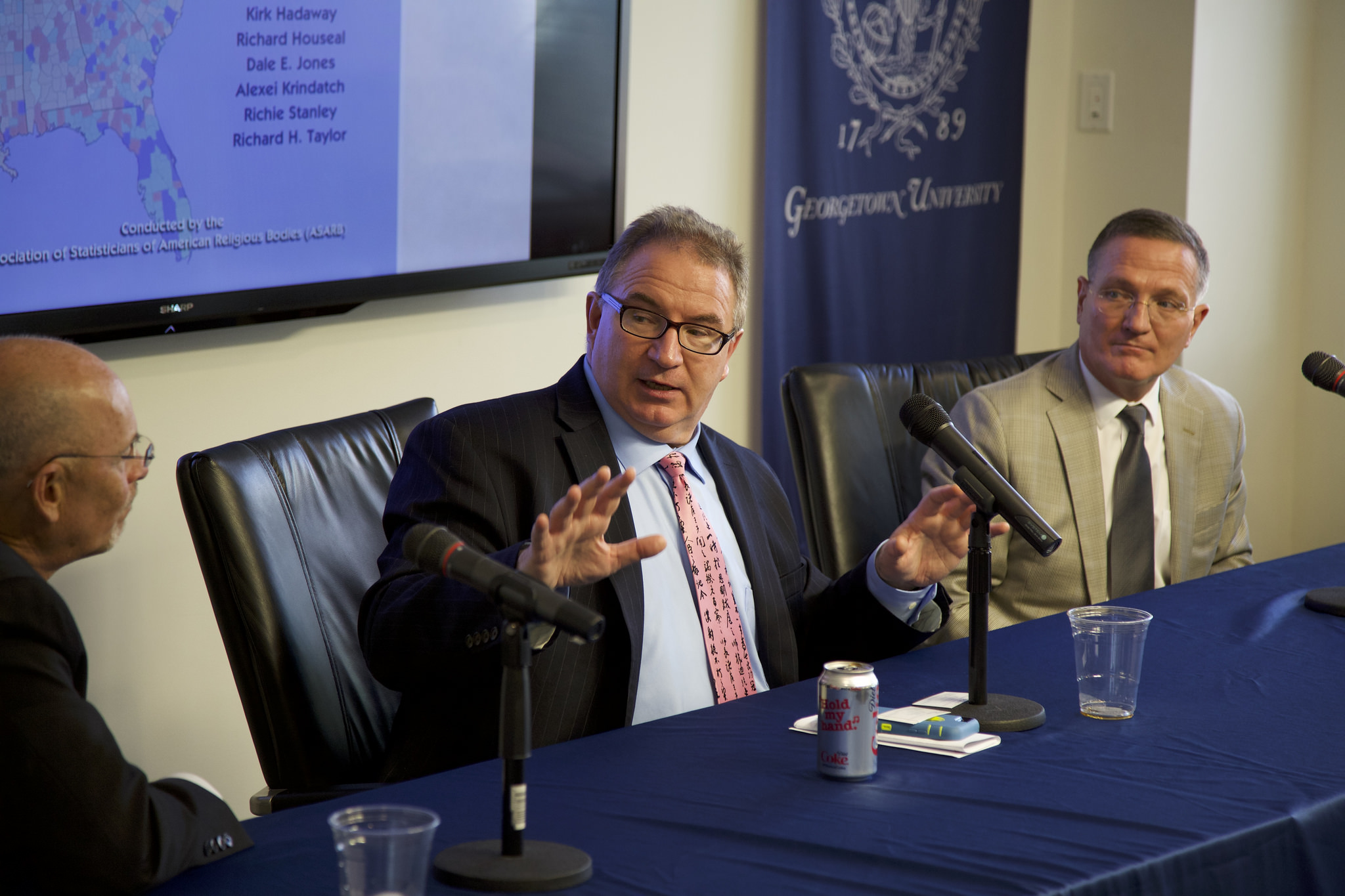 John J. DiIulio, Jr. (center) is the Frederic Fox Leadership Professor at the University of Pennsylvania and faculty director of the Fox Leadership Program and the Program for Research on Religion and Urban Civil Society (PRRUCS).