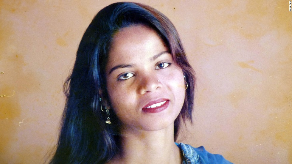 Following a dispute over a water cup, Asia Bibi, a Christian woman and mother of five, was charged with blasphemy and in 2010 was sentenced to death. Appeals are still on-going in her case and she remains in prison. Photo: CNN/Supplied