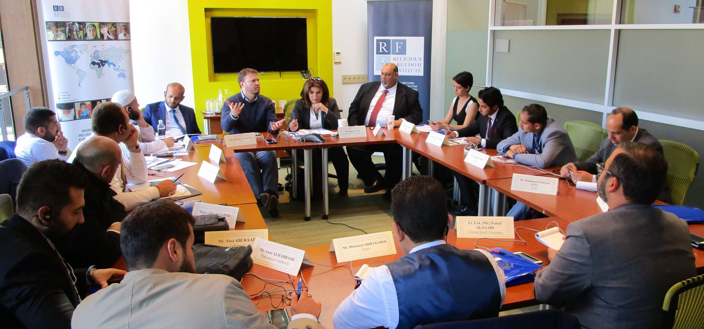 Ismail Royer, Research and Program Associate, led the discussion with participants from across the Middle East and North Africa.