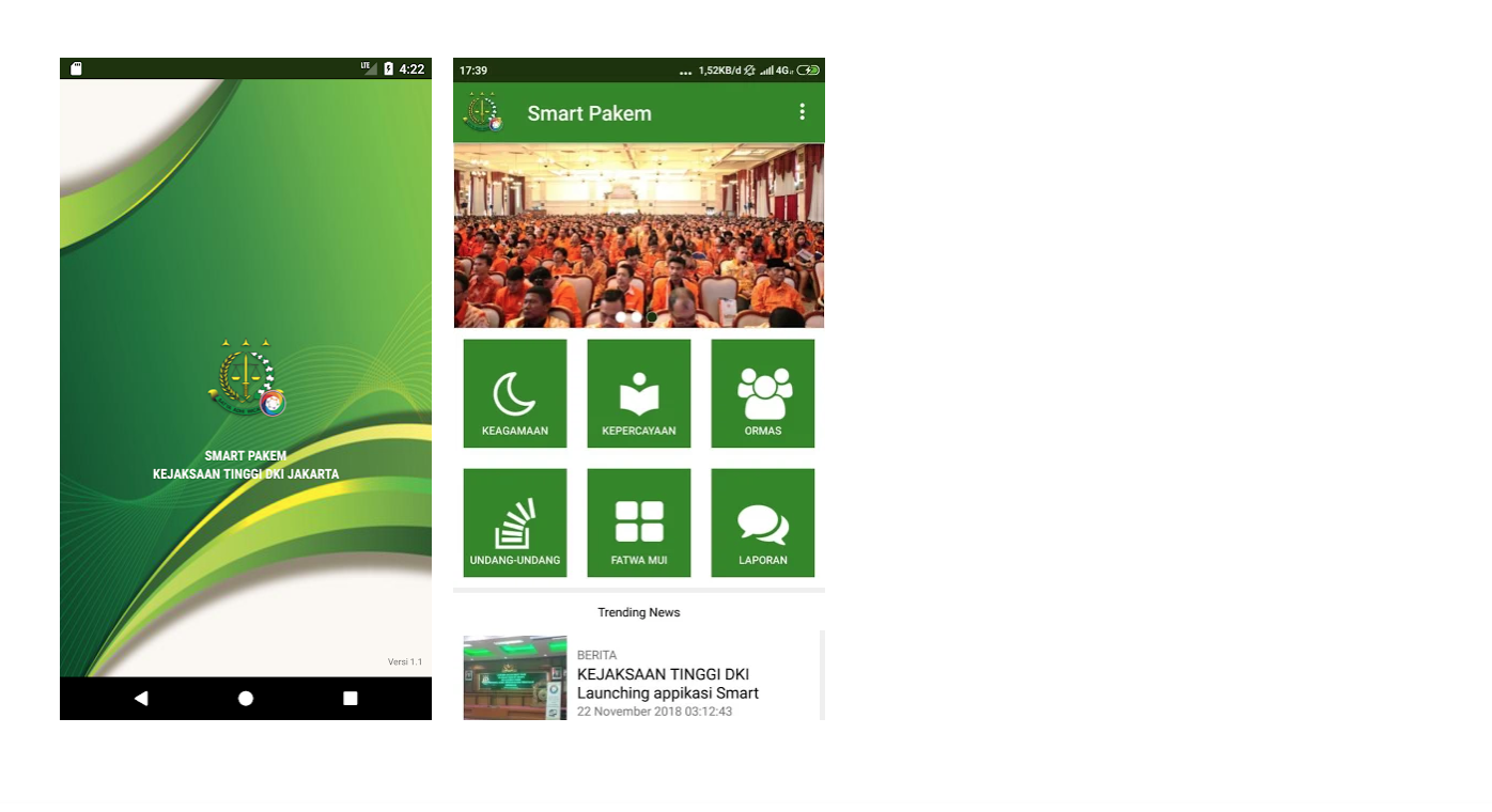 Screenshot of the Smart Pekam app available for download in the Google Play store.