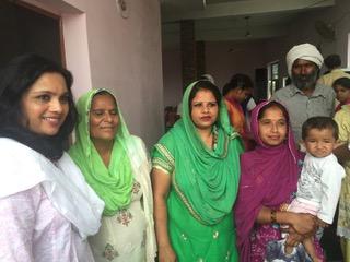 Rebecca Shah on far left
