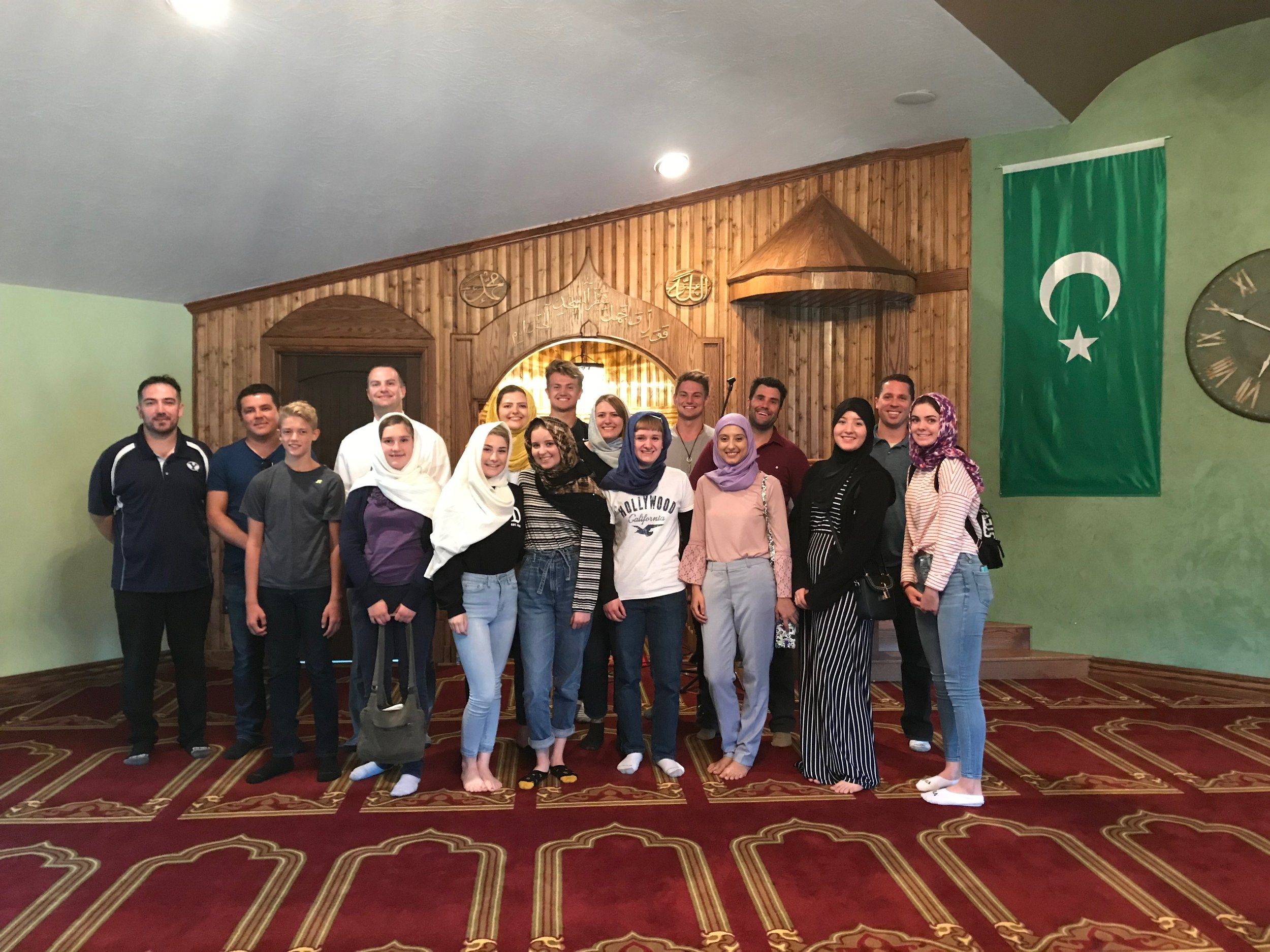 Youth from LDS and Bosnian American Muslim communities work together on common project in Salt Lake City, Utah.