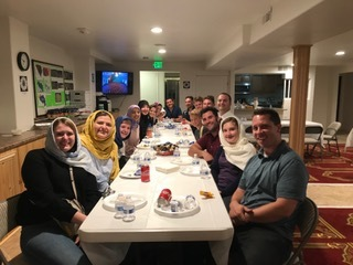 Youth from different faith communities convened for dinner after a day of service