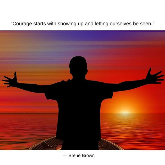 Important reminder to stay courageous and brave, even when we don't feel it. #traumarecovery #atx #emdrtherapy #emdr #atxtherapist #mentalhealth #counselor #therapist #atxtherapist #motivation