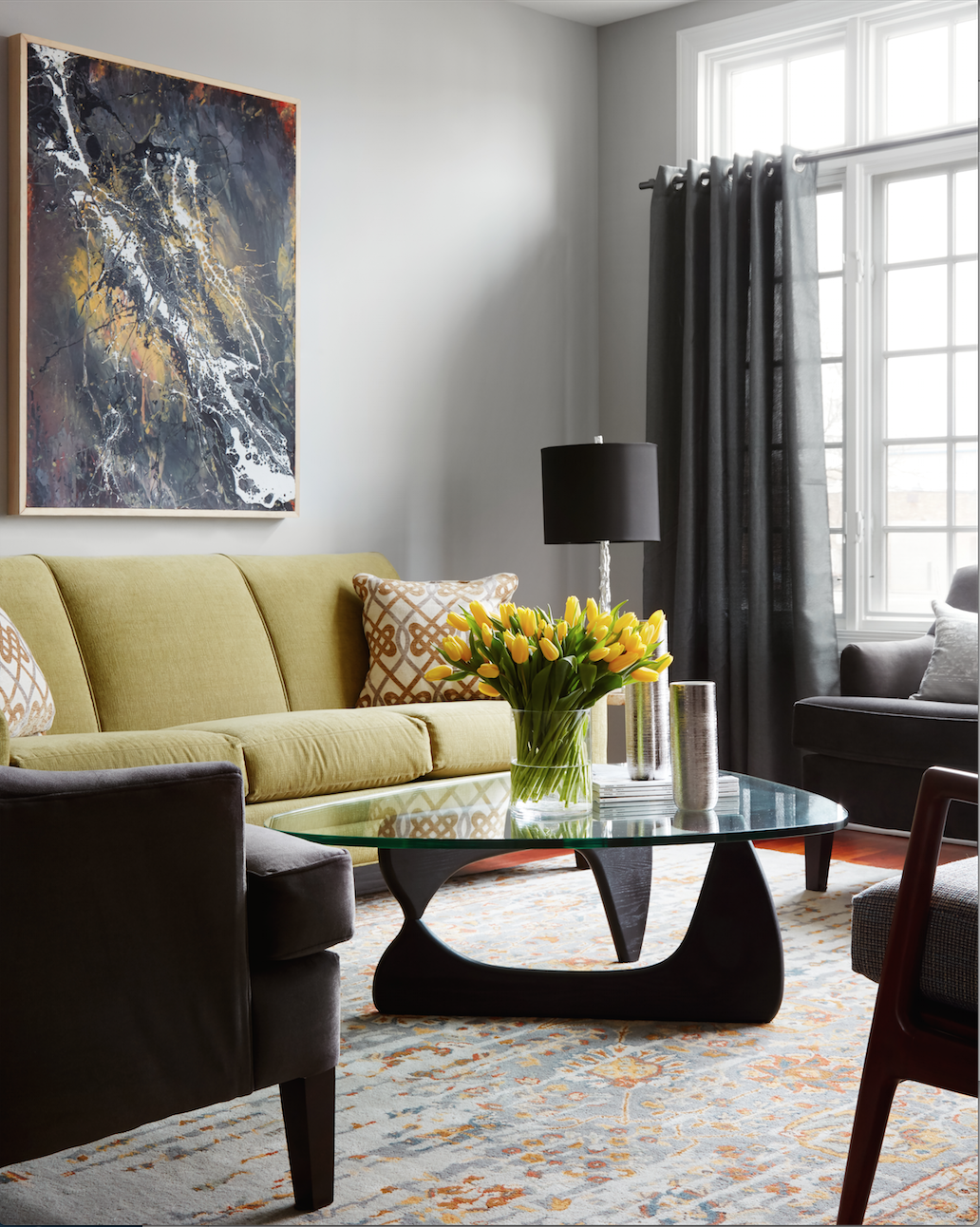 Living Room - Interior Design - Art Curation by Paula Interiors