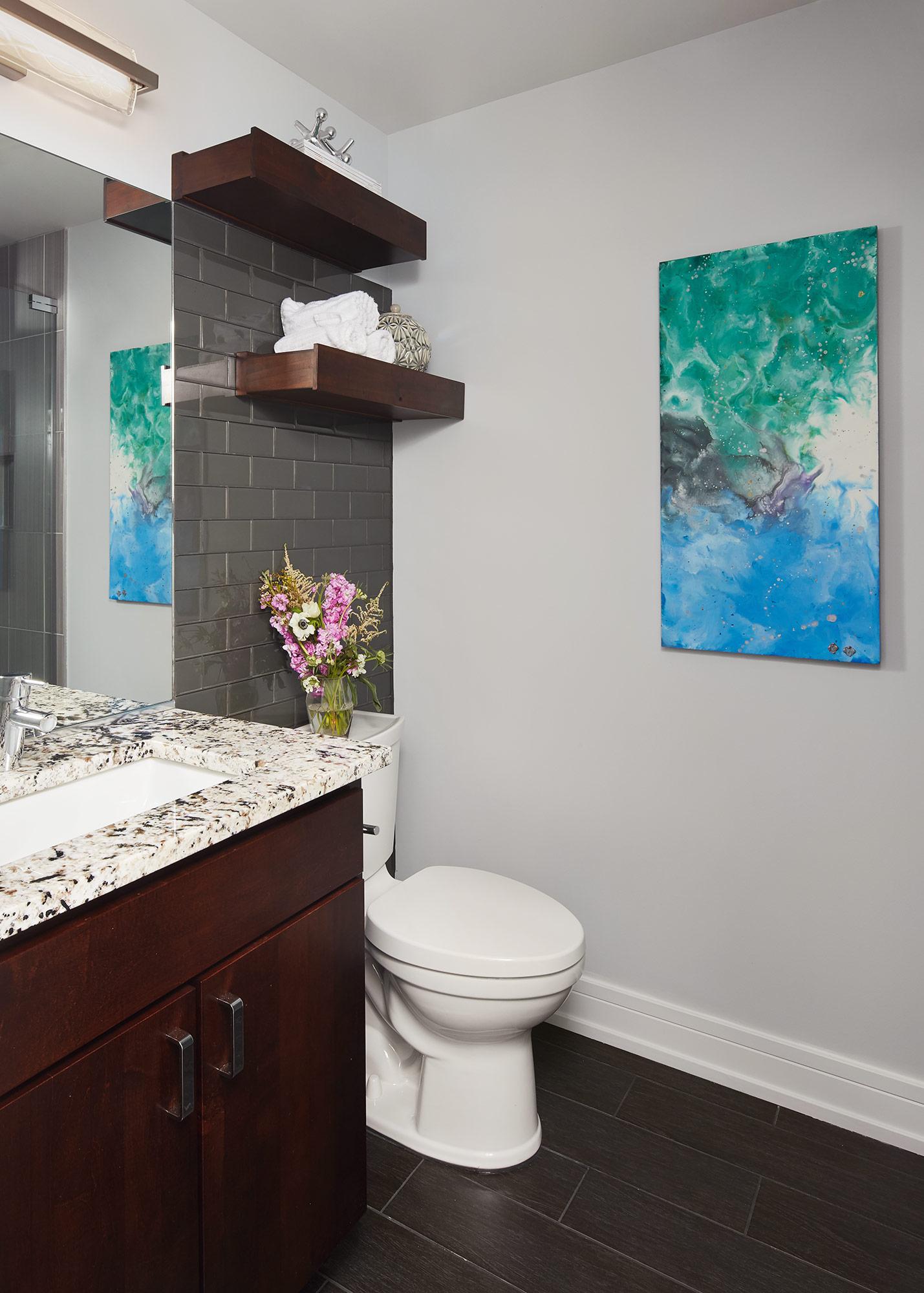 Bathroom- Interior Design- Art Curation by Paula Interiors