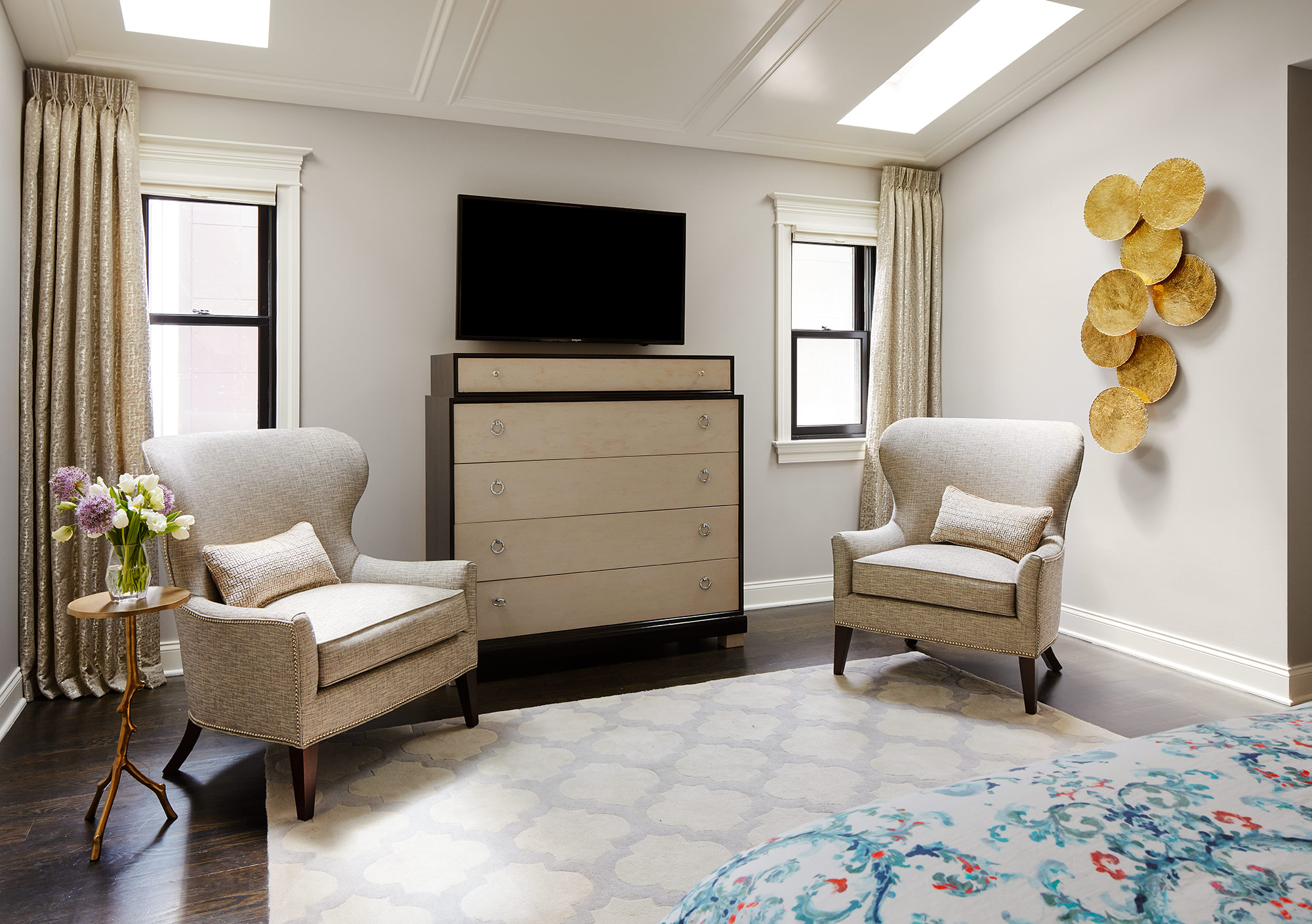 Bedroom- Interior Design - Art Curation by Paula Interiors