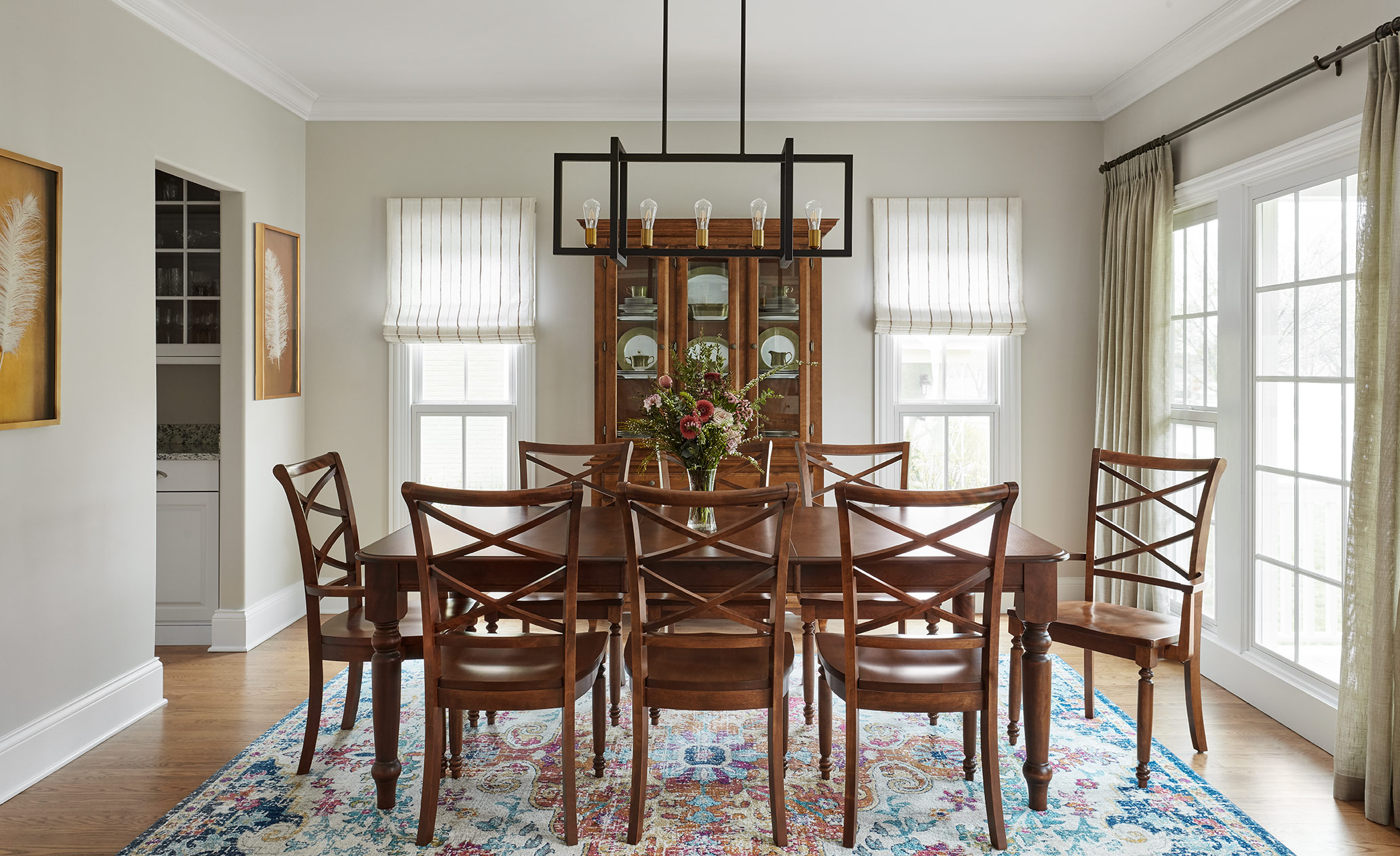 Dining Room - Interior Design- Art Curation by Paula Interiors