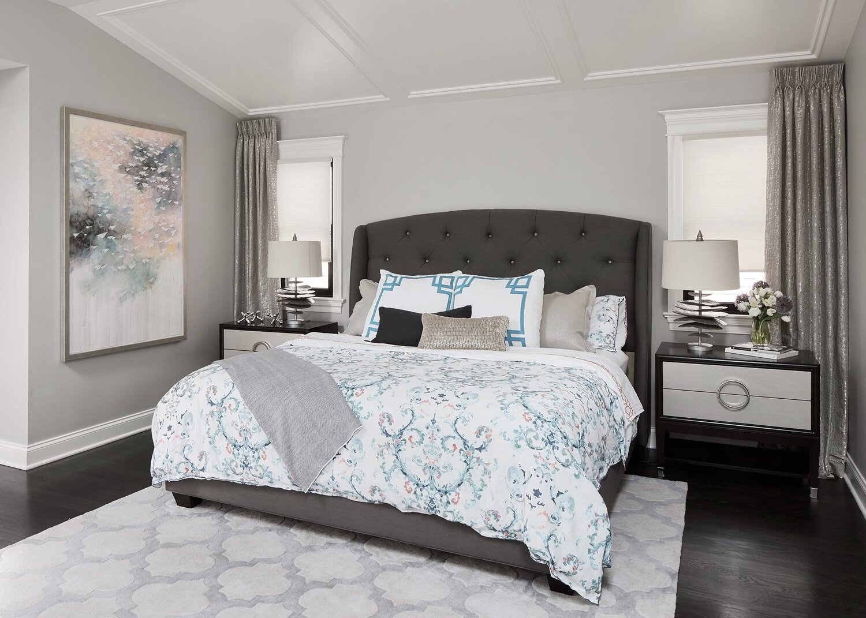 Full Master Bedroom by Paula Interiors