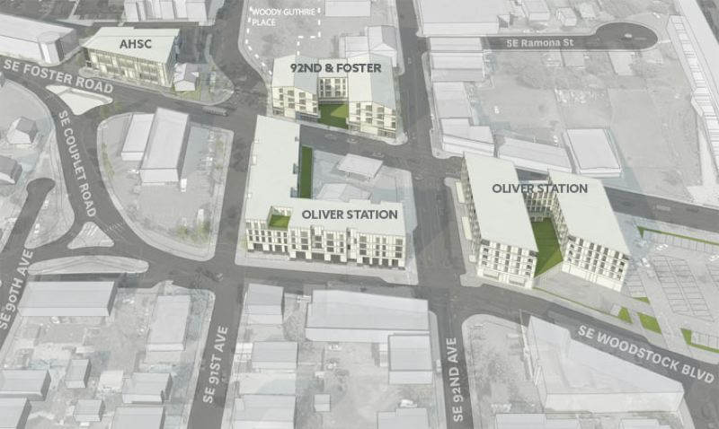 Future Oliver Station Aerial View
