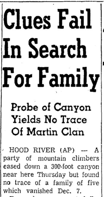 Oregonian Headline Dec 26, 1958