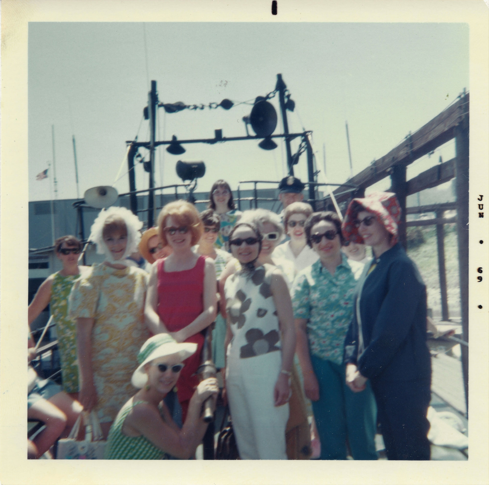 Field trip: The Brookford Garden Club on a harbor patrol tour, 1969