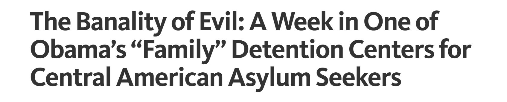 Cameron has written extensively about his visits to the detention centers. Articles can be found  here and  here . You can follow Cameron Madill on Medium.com