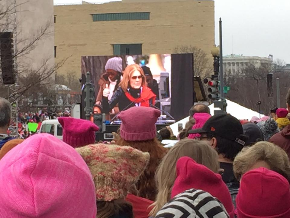 Chris and friends at the Women's March on Washington Jan 21, 2017.