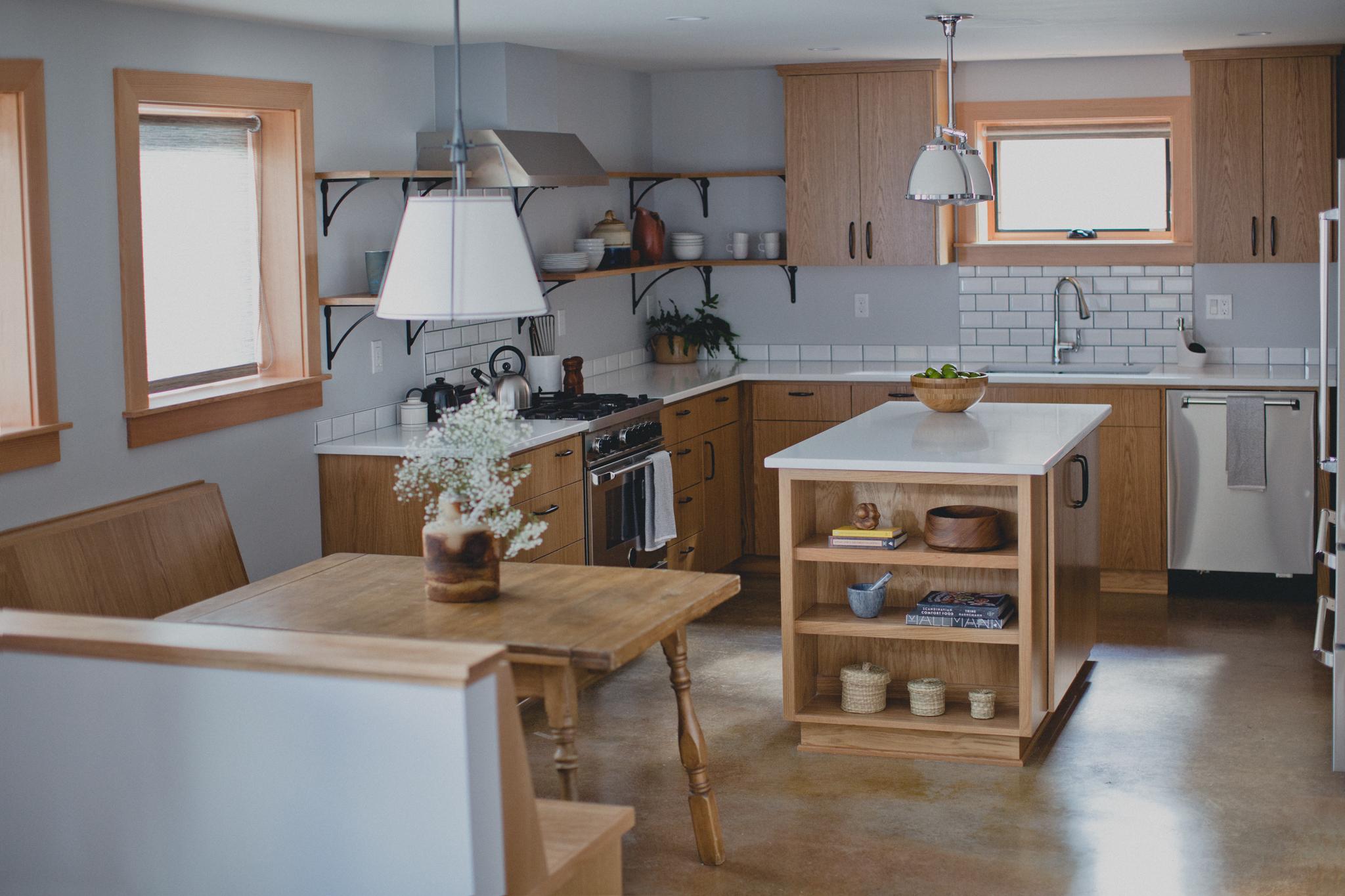 Downstairs kitchen in the ADU.