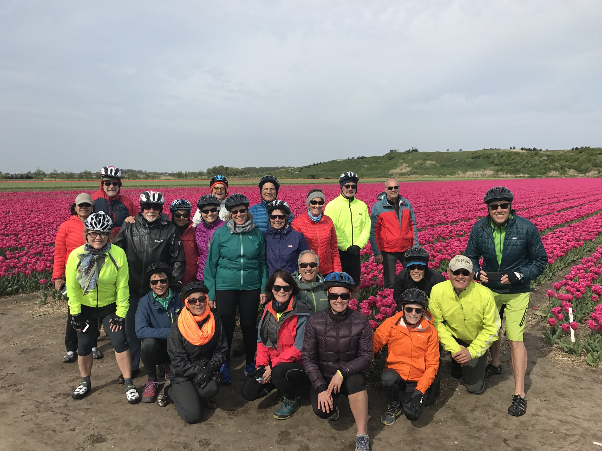 Wednesday Walkers with spouses on Bike and Barge trip in the Netherlands.