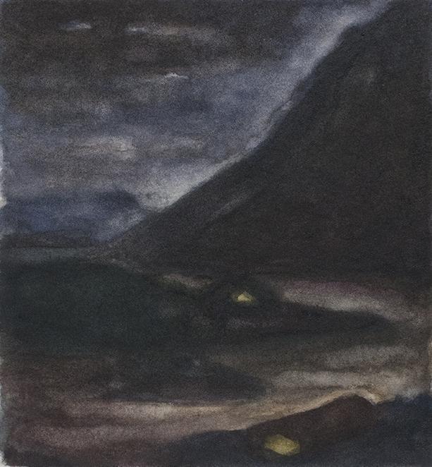 JØTENHEIMEN NATT GJENDE 1999, 5.5 x 5 inches private collection © 2016, Michael Kirk all rights reserved