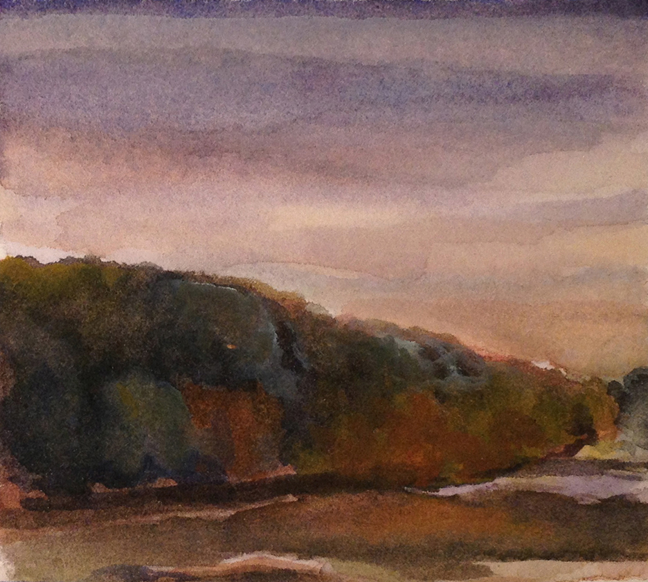 HUDSON AUTUMN 2006, 3 x 3 inches © 2016, Michael Kirk all rights reserved