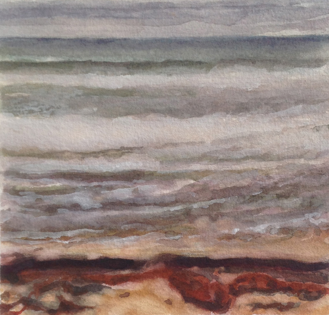SQUIBNOCKET TIDE 2015, 3 x 3 inches © 2016, Michael Kirk all rights reserved