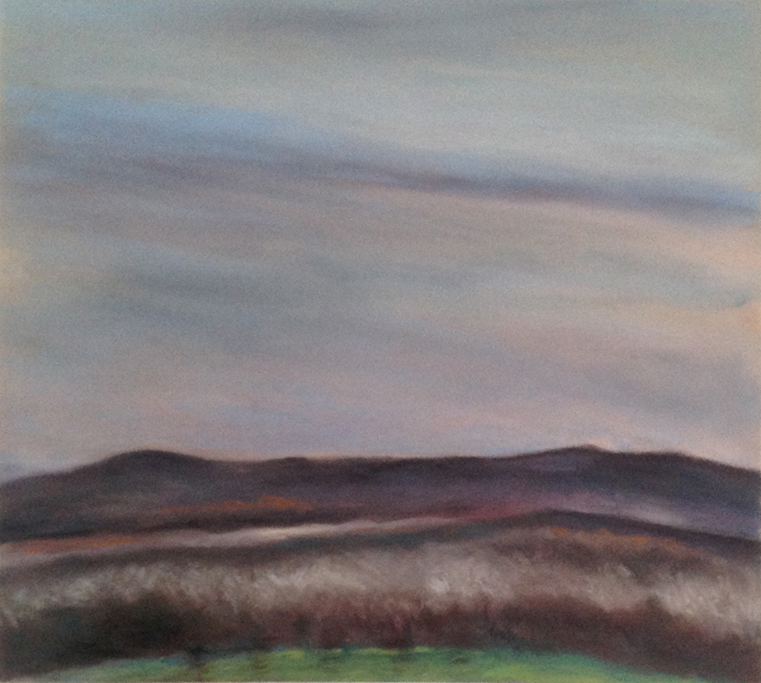 EAST HILL SUNSET 1988, 2o x 22 inches © 2016, Michael Kirk all rights reserved