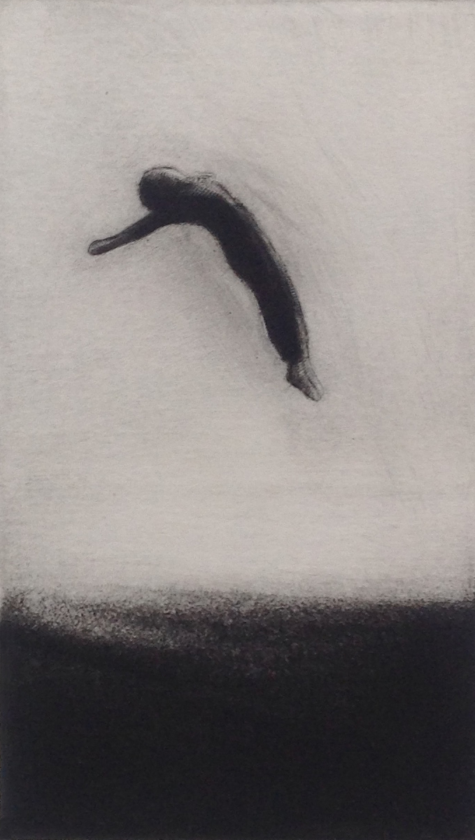UNTITLED etching, 1982 4.5 x 2.75 inches edition: 10 © 2016, Michael Kirk all rights reserved