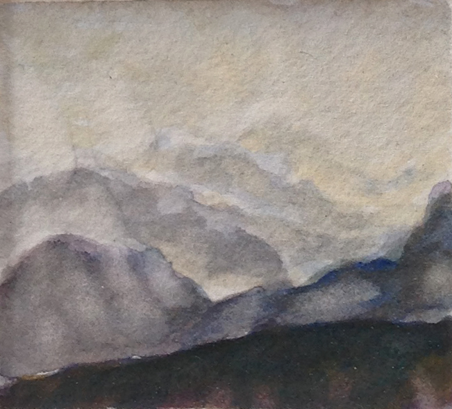 MISTY MOUNTAIN 2014, 2.5 x 2.5 inches © 2016, Michael Kirk all rights reserved