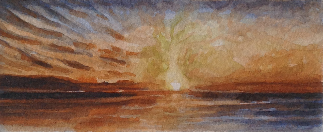 MIDNIGHT SUN 2014, 2.25 x 5.5 inches © 2016 Michael Kirk all rights reserved