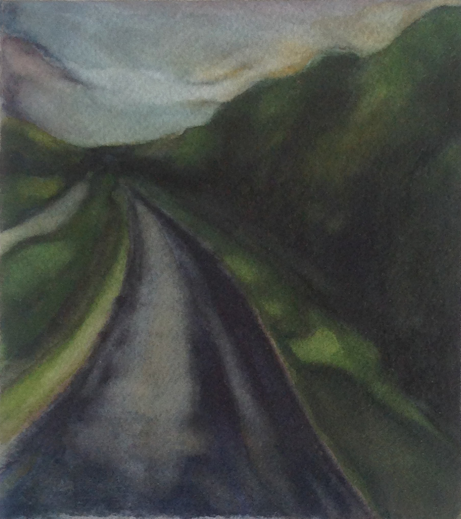 LEAVING SADIE 1997, 5 x 4.5 inches © 2016, Michael Kirk all rights reserved