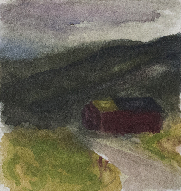 RED BARN 1999, 2.5 x 2 inches private collection © 2016, Michael Kirk all rights reserved