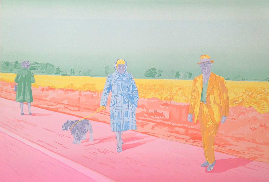 WHERE ARE WE GOING? silkscreen, 1972 25 x 36 inches edition size: 15 © 2016, Michael Kirk