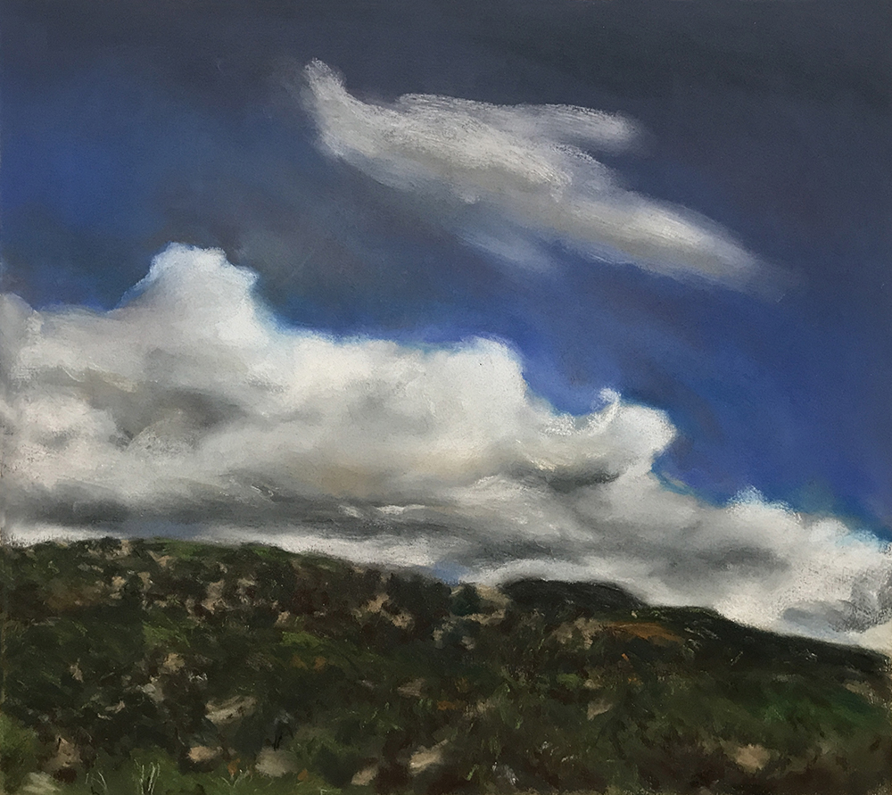 NEW MEXICO HILL CLOUDS 1988, 20 x 22 inches © 2017, Michael Kirk all rights reserved