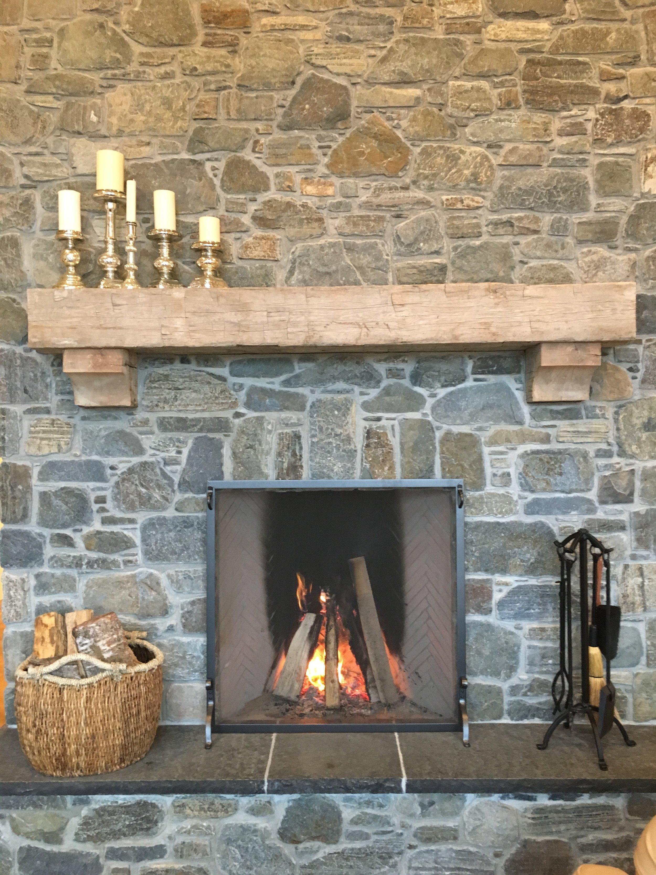 Fireplace at The Alaska Farmhouse