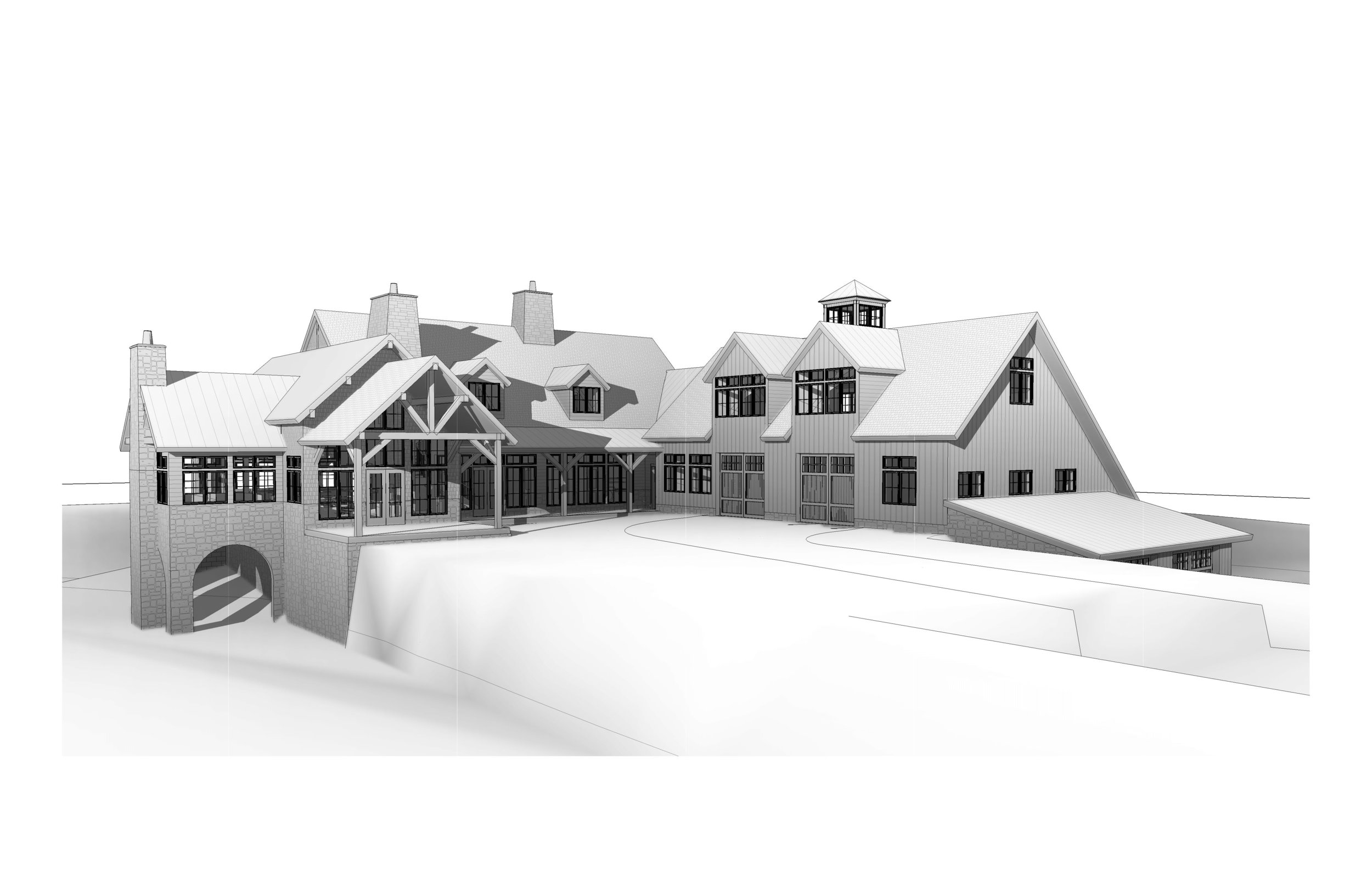 EARLY MODELING WITH ENLARGED BARN/ GARAGE