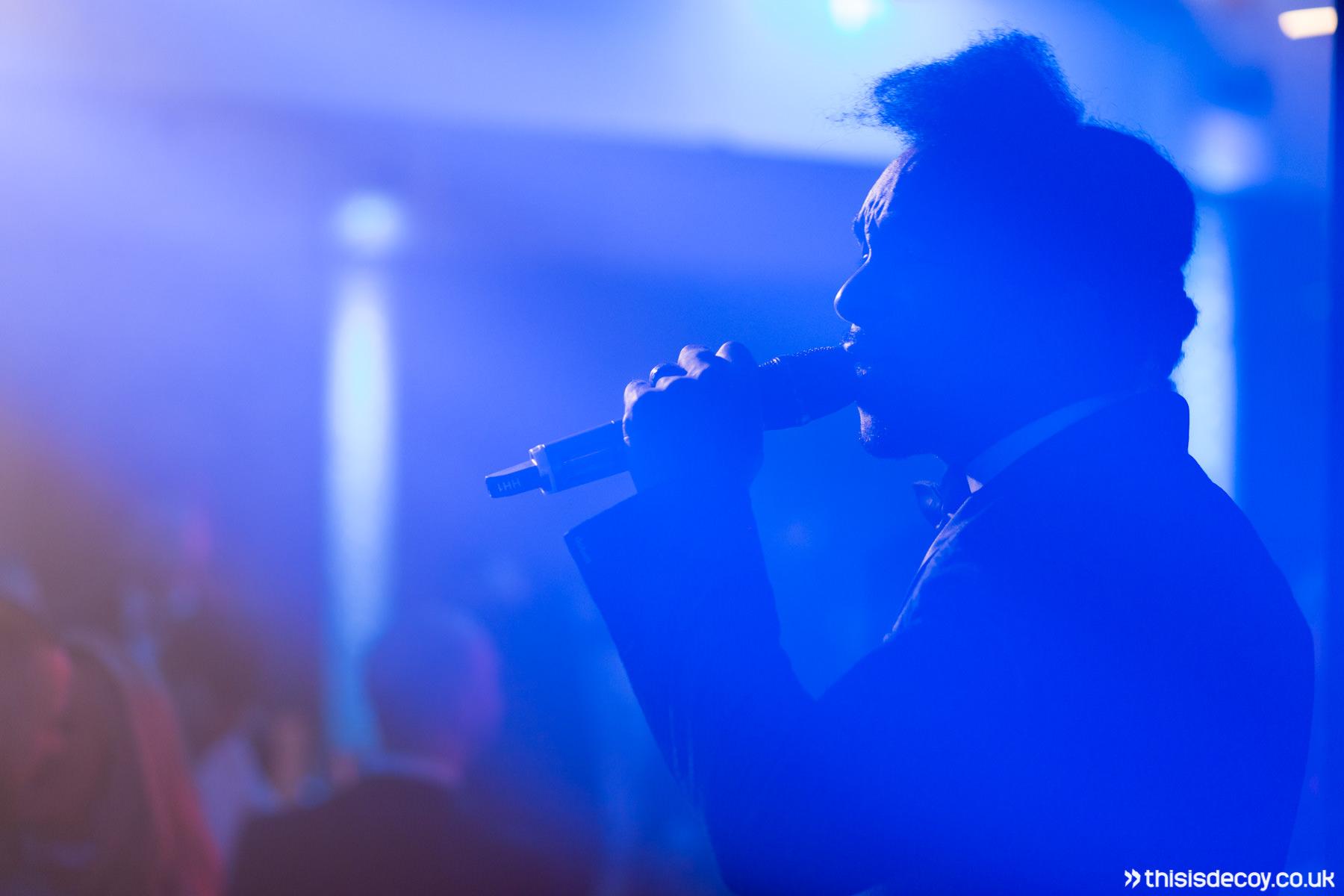 singer on stage