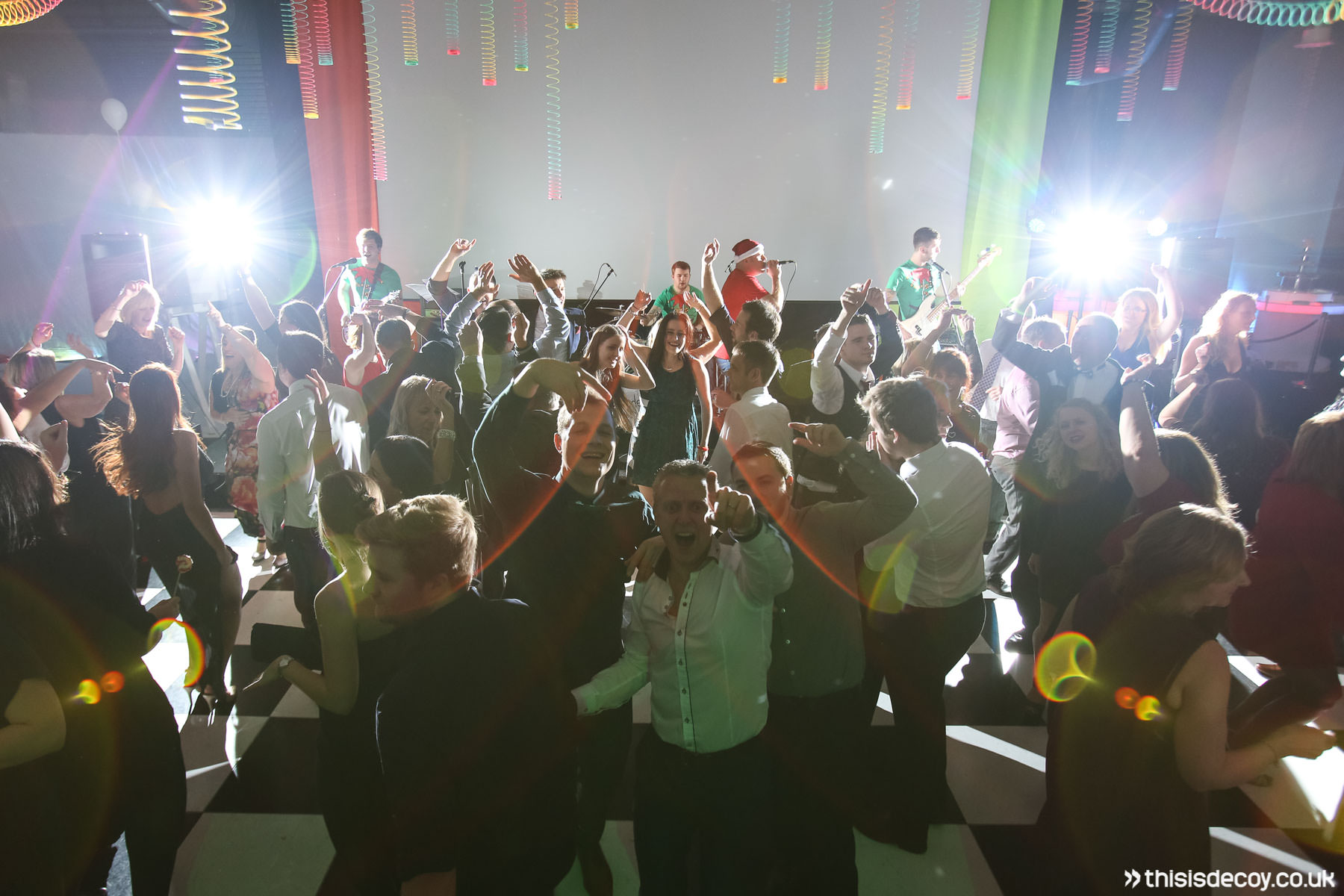 cover band with full dancefloor at christmas party