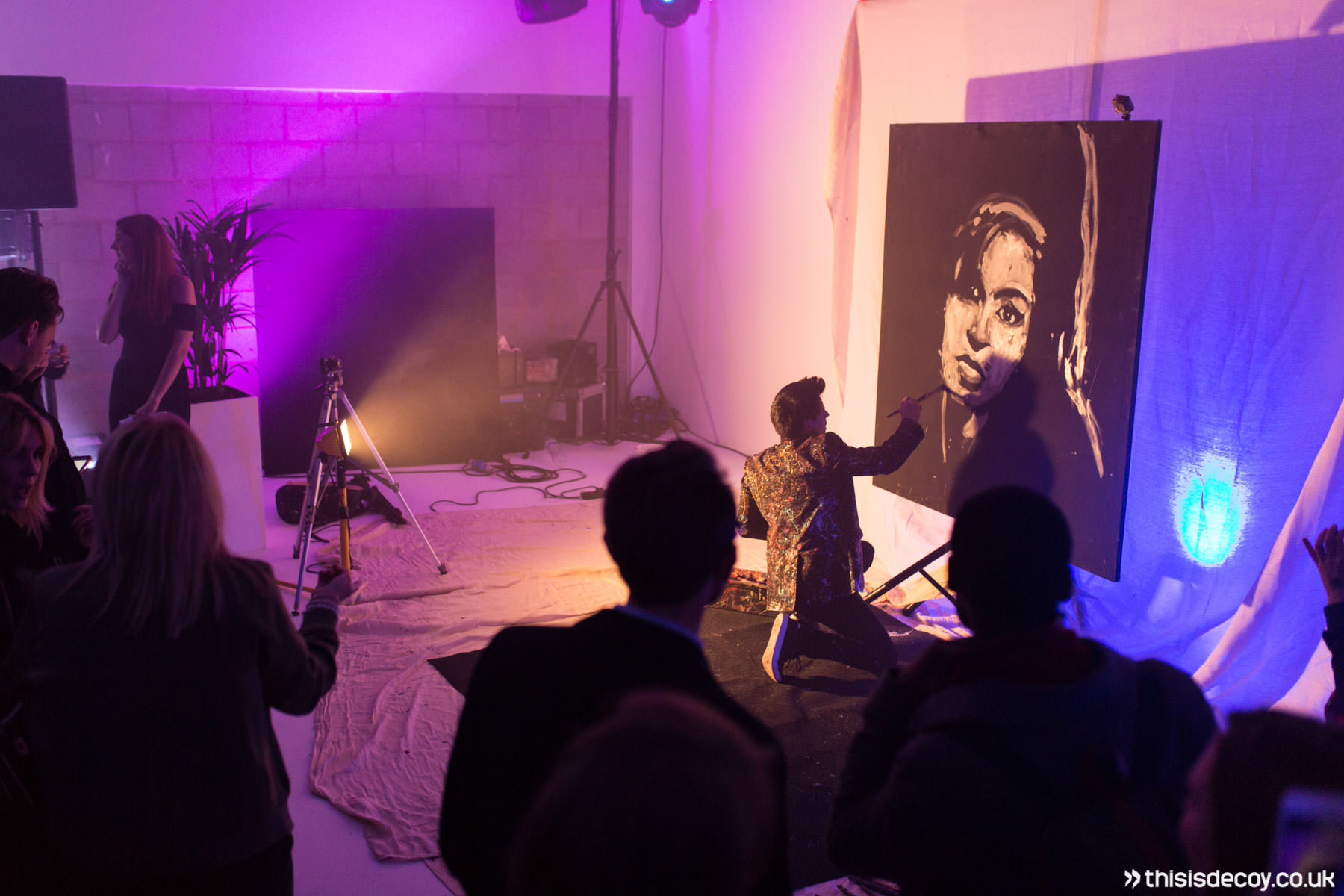 live painting at launch