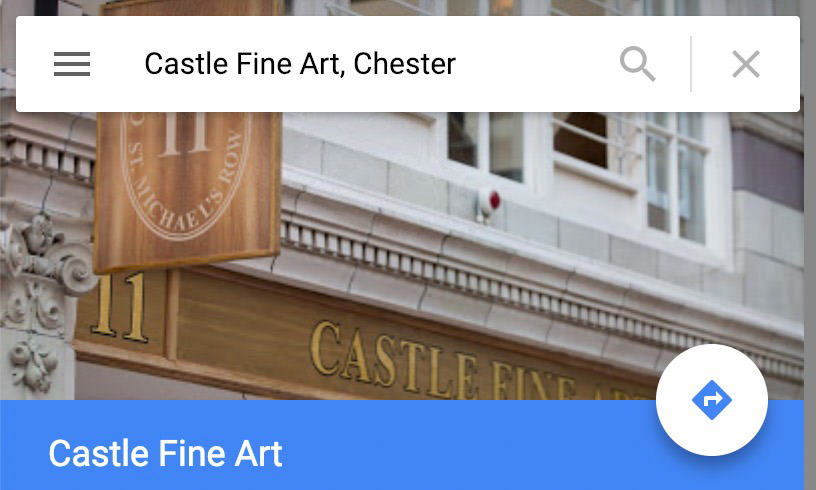 One of our photos in the wild, being used as the cover image of the Google Maps listing.