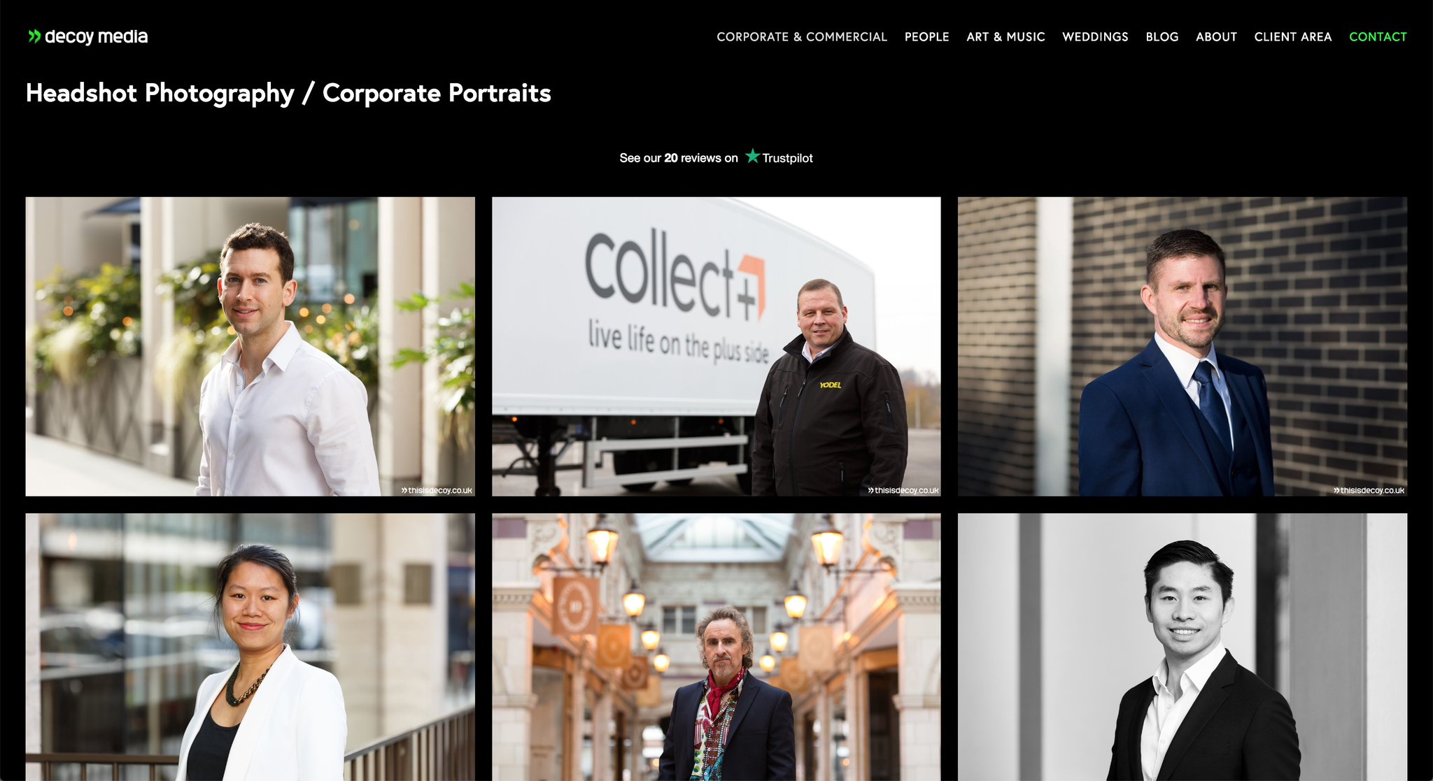 Take a look at our headshot portfolio