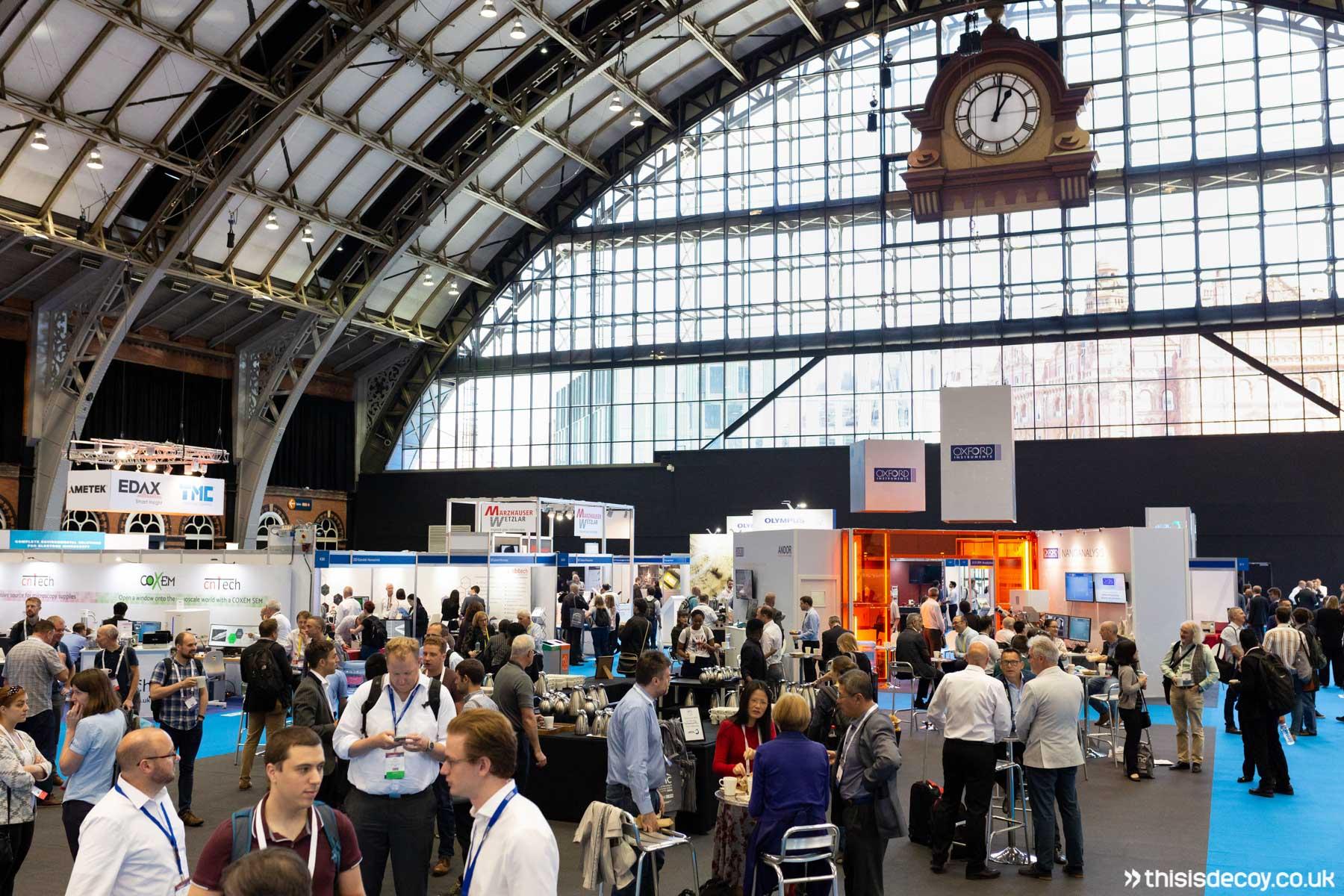 busy exhibiton hall