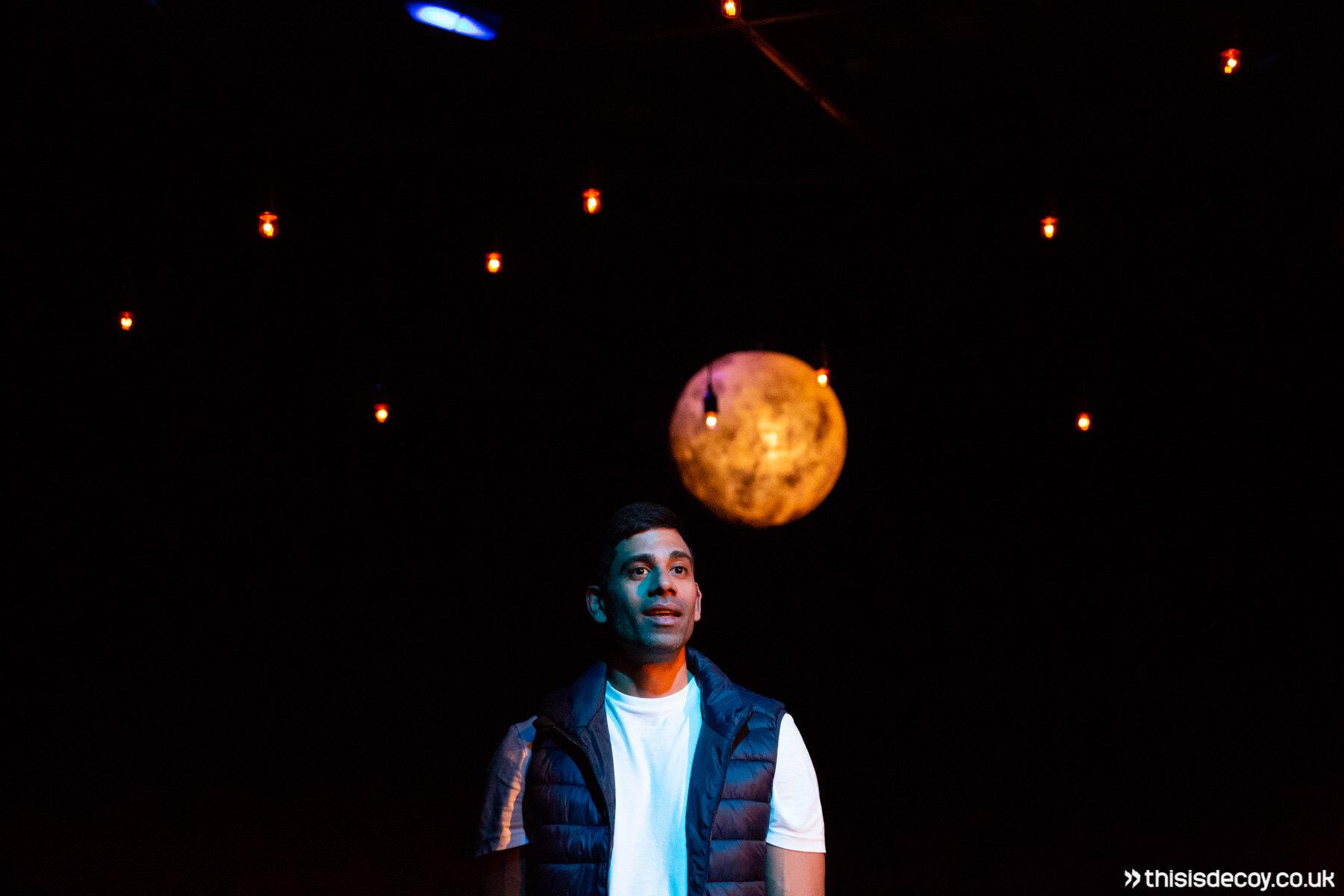 man moon stars