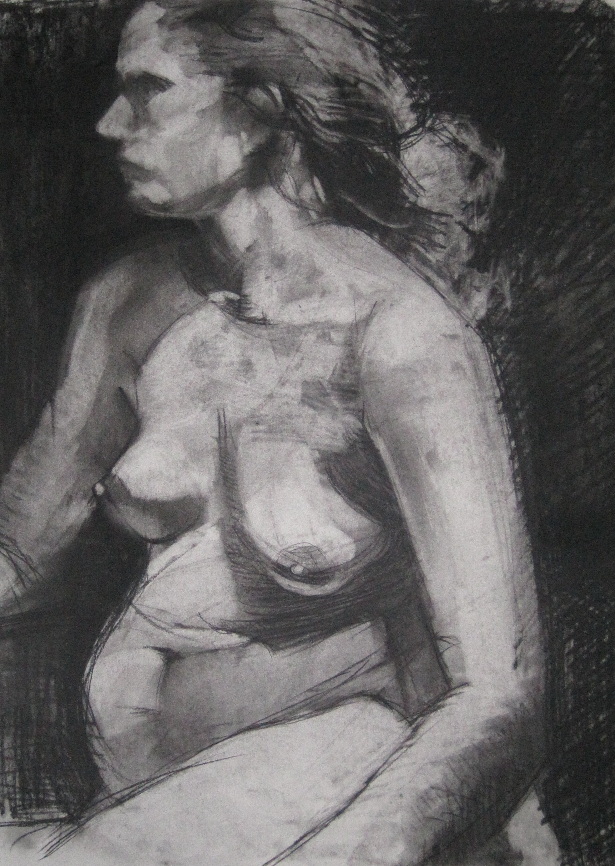 Charcoal on paper  18 x 24""
