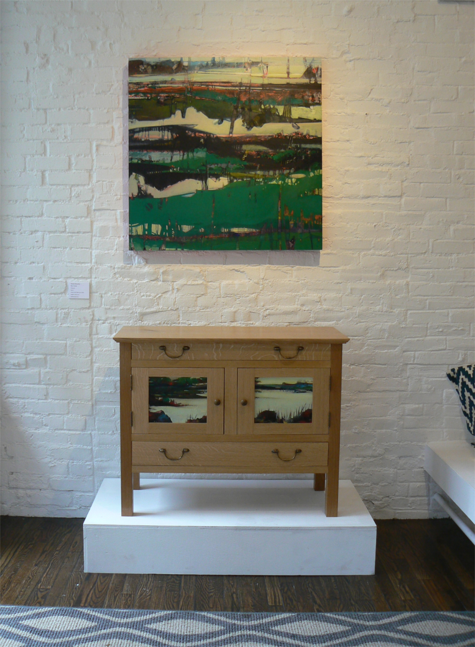 Thirtyseven: fifteen (top) and panels for Arts & Crafts reproduction cabinet