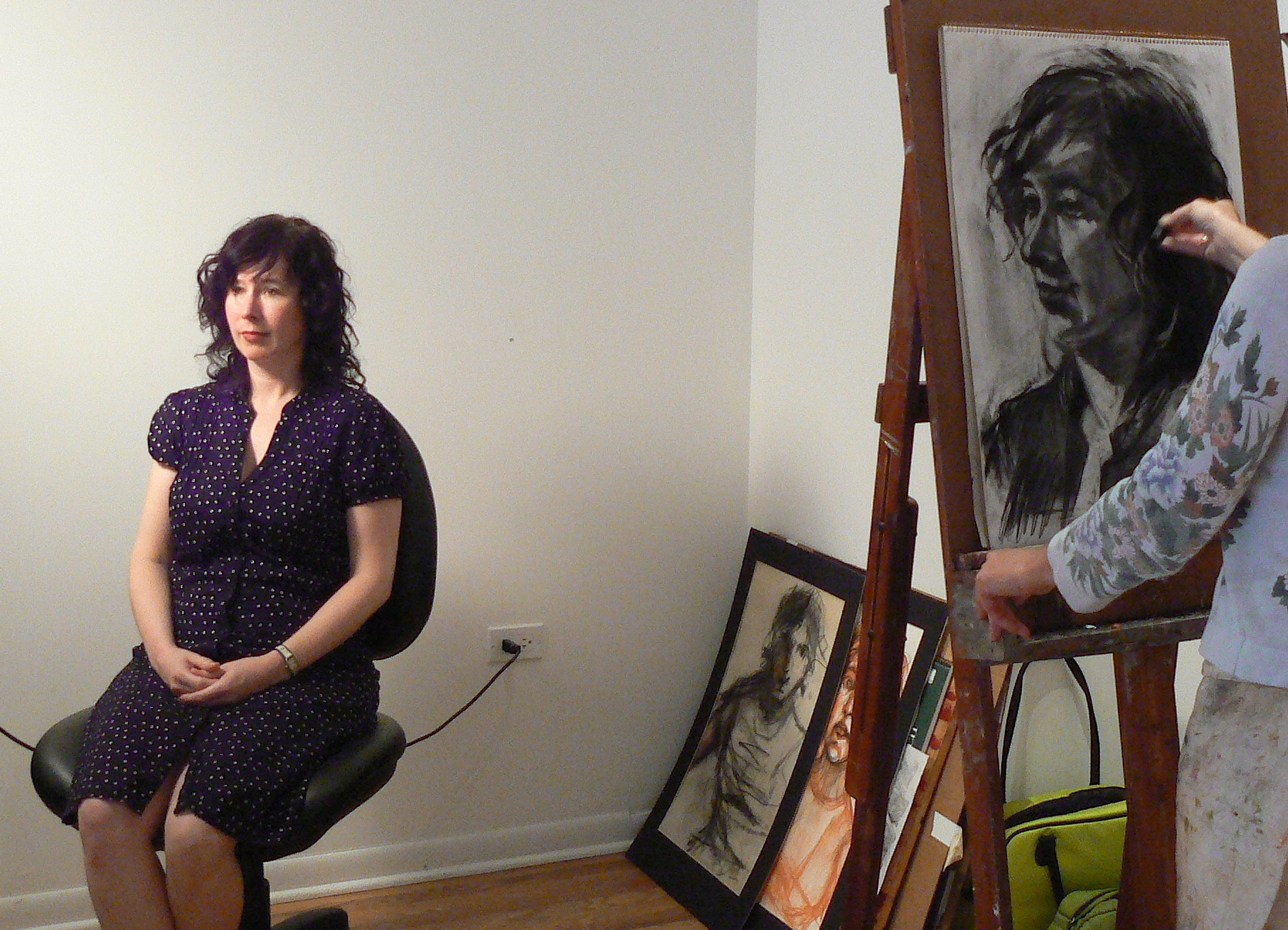 Drawing Lisa at KKAP Gallery, Chicago.jpg