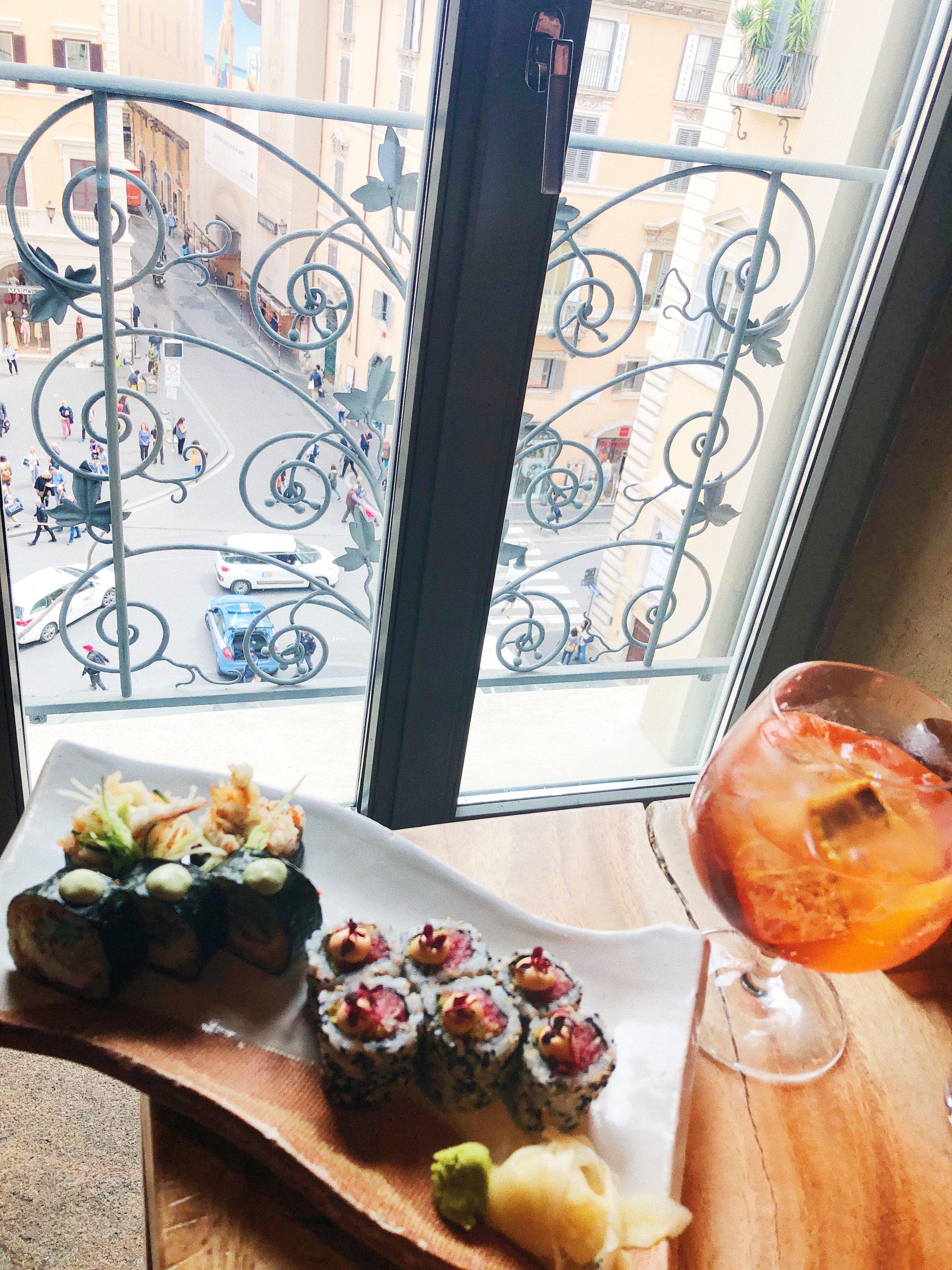 Spicy tuna and spider rolls -